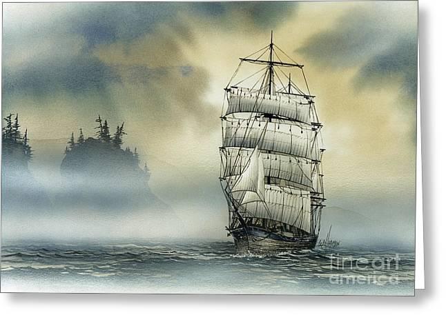 Island Mist Greeting Card by James Williamson