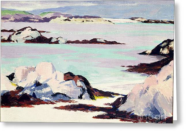 Inner Paintings Greeting Cards - Island of Iona Greeting Card by Francis Campbell Boileau Cadell