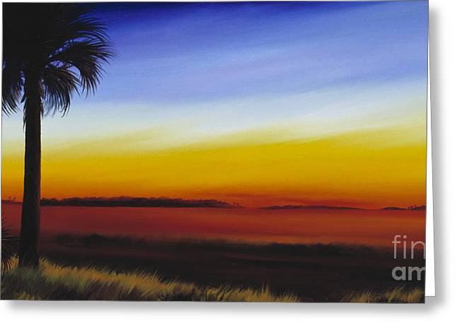 Palmetto Trees Greeting Cards - Island River Palmetto Greeting Card by James Christopher Hill