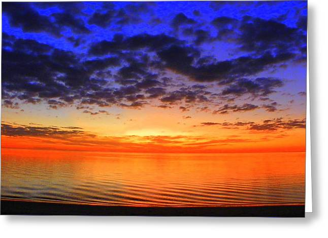Island Sunset In November Greeting Card by Sheri McLeroy