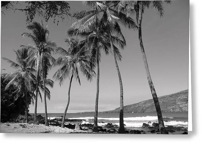 Landscape Framed Prints Greeting Cards - Island Waves Greeting Card by Athala Carole Bruckner