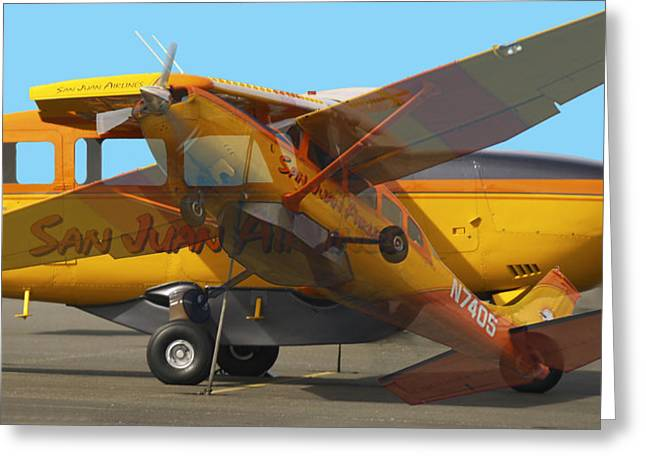 Single-engine Photographs Greeting Cards - IslandHopper2 Greeting Card by Robert Trauth