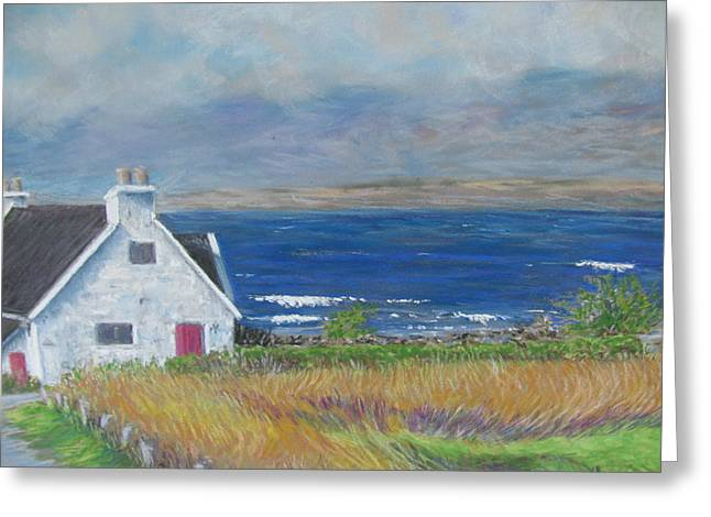 Windy Pastels Greeting Cards - Isle of Skye Greeting Card by Debbie Peate