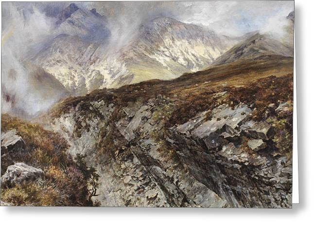 Rugged Mountains Greeting Cards - Isle of Skye Greeting Card by Keeley Halswelle