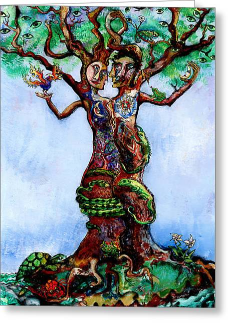 Transformation Of Life Greeting Cards - Isle of the Tree Greeting Card by Mary DeLave