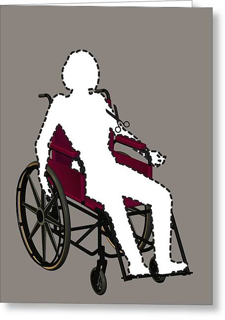 Sociology Photographs Greeting Cards - Isolation Through Disability, Artwork Greeting Card by Stephen Wood