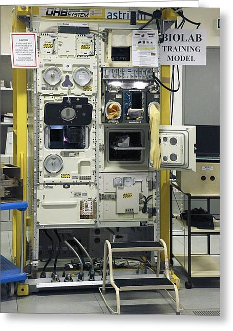 Experiment Greeting Cards - Iss Biolab Training Station Greeting Card by Detlev Van Ravenswaay