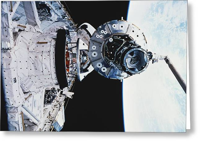 Iss Module Unity Greeting Card by Science Source