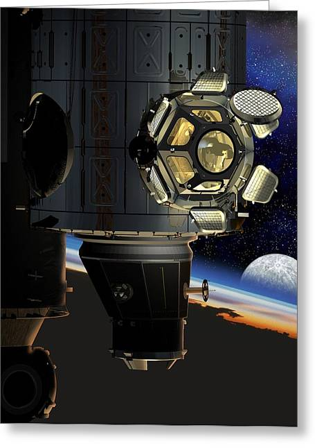 Iss Greeting Cards - Iss Viewing Portal, Artwork Greeting Card by David Ducros