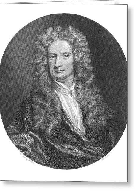 Issac Newton, English Physicist Greeting Card by Middle Temple Library