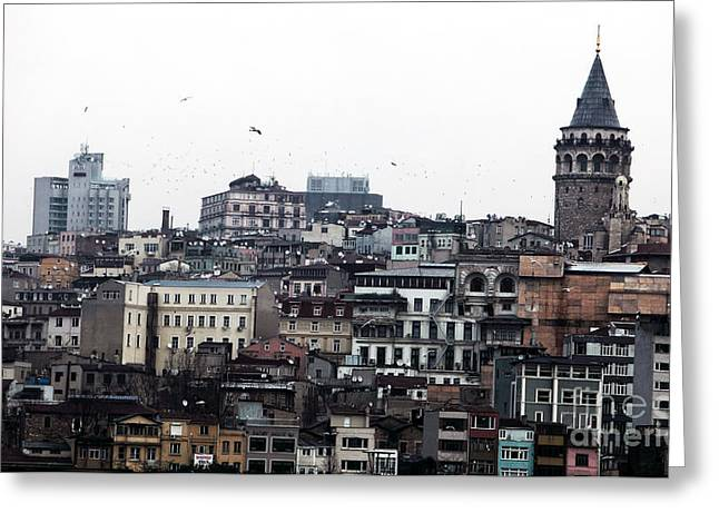 Istanbul Greeting Cards - Istanbul Buildings Greeting Card by John Rizzuto