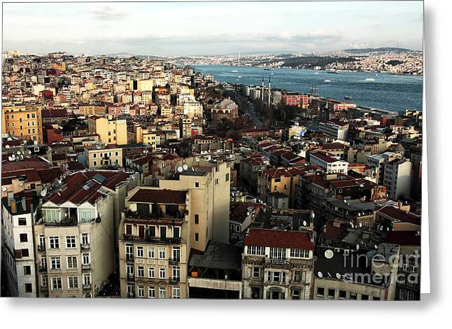 Istanbul Greeting Cards - Istanbul Cityscape I Greeting Card by John Rizzuto