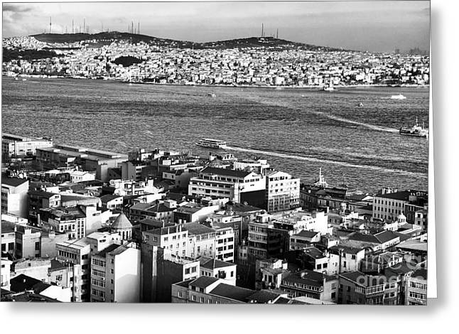 Istanbul Greeting Cards - Istanbul Cityscape V Greeting Card by John Rizzuto