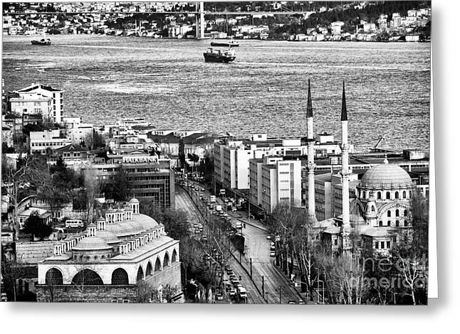 Istanbul Greeting Cards - Istanbul Cityscape VIII Greeting Card by John Rizzuto