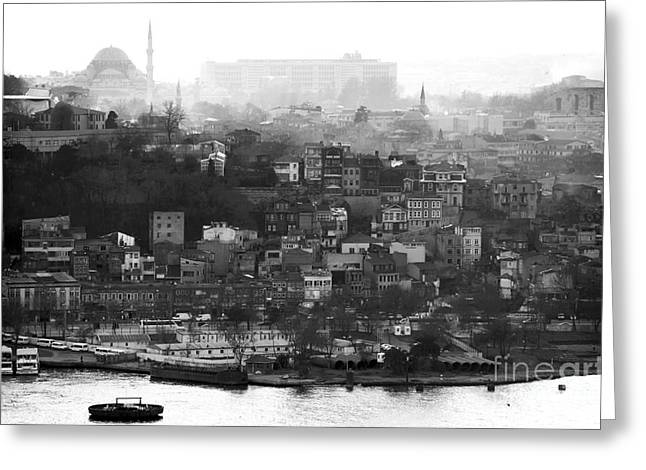 Istanbul Greeting Cards - Istanbul Cityscape X Greeting Card by John Rizzuto
