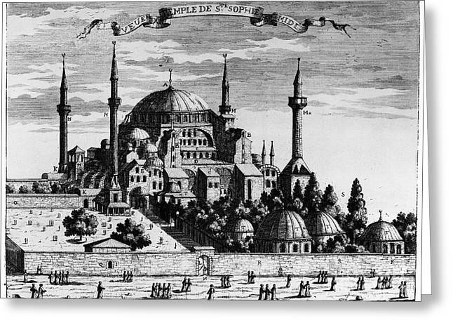 Hagia Sofia Greeting Cards - Istanbul: Hagia Sophia Greeting Card by Granger