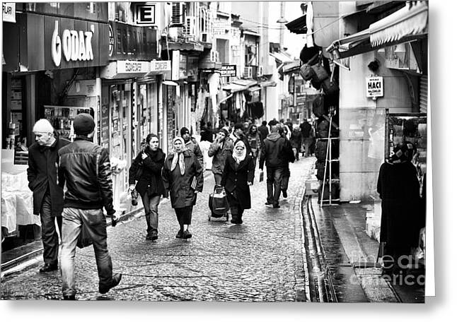 Istanbul Greeting Cards - Istanbul Shopping Greeting Card by John Rizzuto