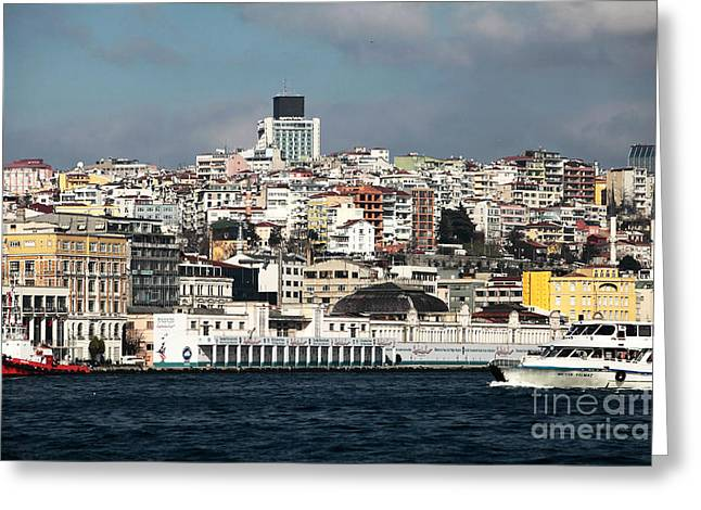 Istanbul Greeting Cards - Istanbul Strait Greeting Card by John Rizzuto