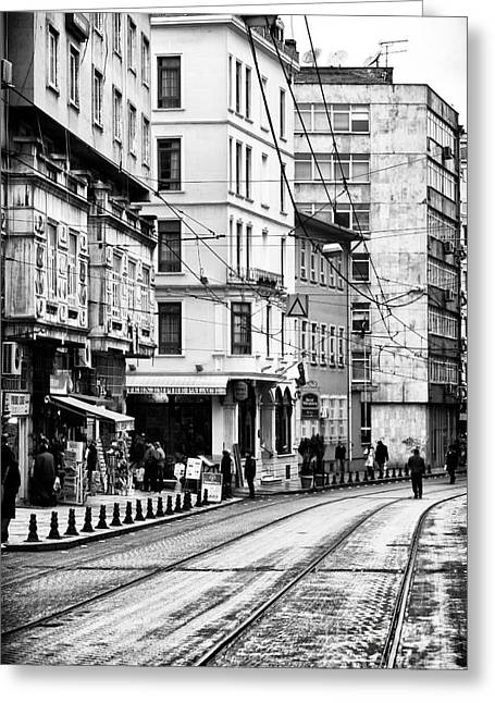 Istanbul Greeting Cards - Istanbul Walk Greeting Card by John Rizzuto