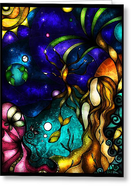 Planet Earth Greeting Cards - It all revolves around you Greeting Card by Mandie Manzano