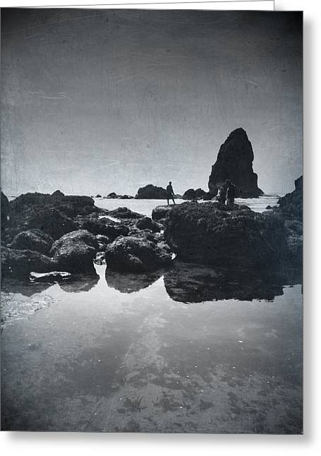 Ocean. Reflection Greeting Cards - It Seems So Shallow and Low Greeting Card by Laurie Search