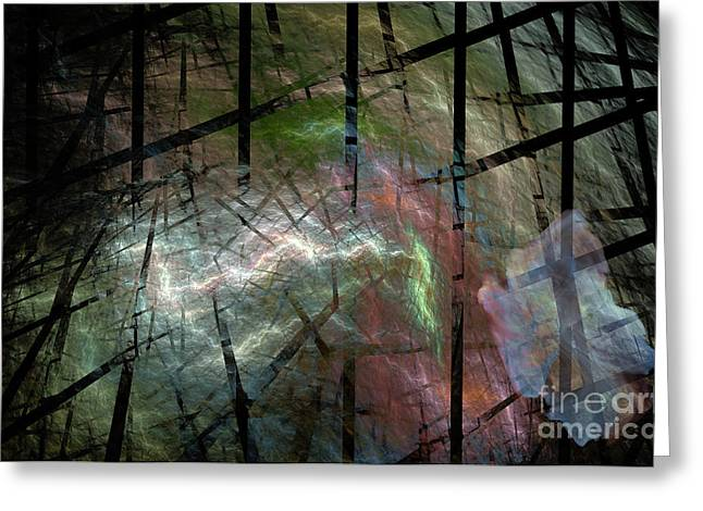 Improvisation Greeting Cards - It was a Ghostly dark and stormy night Greeting Card by Ed Churchill