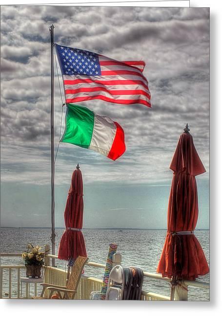 Italian-americans Greeting Cards - Italian American Greeting Card by Joann Vitali