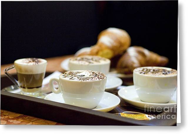 Blue Cheese Greeting Cards - Italian Breakfast Greeting Card by Andre Goncalves