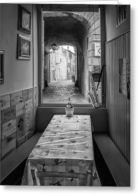 Orvieto Greeting Cards - Italian Cafe Greeting Card by Michael Avory