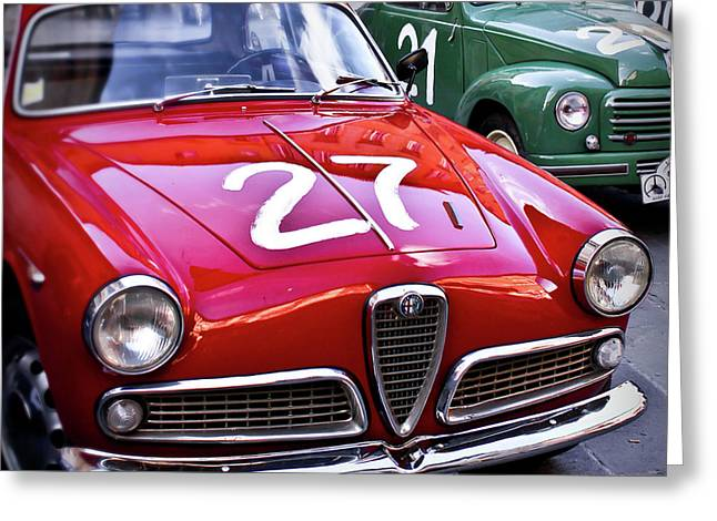 Best Sellers -  - Rally Greeting Cards - Italian Classics Alfa Romeo Greeting Card by Patrick English
