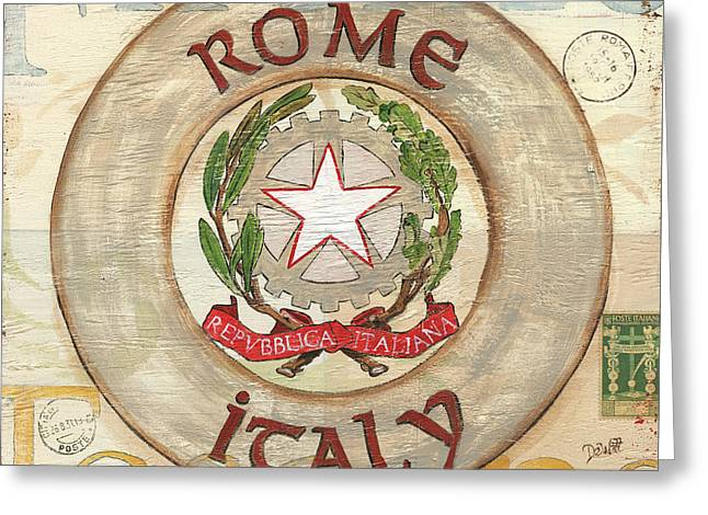 Stamp Greeting Cards - Italian Coat of Arms Greeting Card by Debbie DeWitt