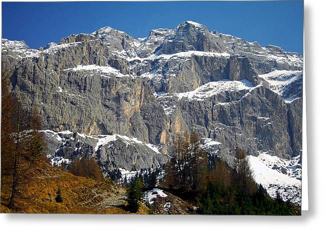 Italian Dolomites ... Greeting Card by Juergen Weiss