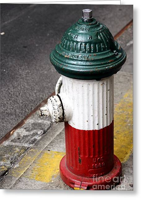 Italian Fire Hydrant Greeting Card by Sophie Vigneault
