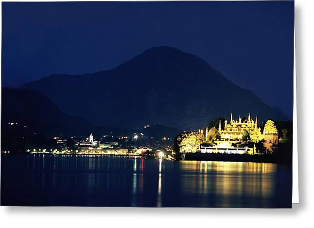Italian Lake Greeting Cards - Italian Lakes at Twilight Greeting Card by Andrew Soundarajan