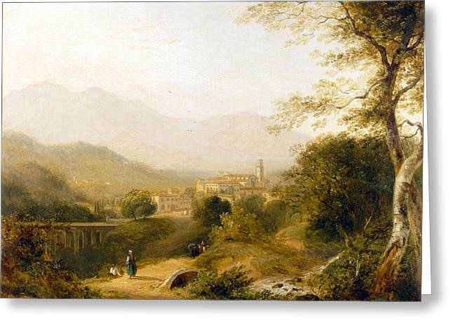 Italian Landscape Paintings Greeting Cards - Italian Landscape Greeting Card by Joseph William Allen
