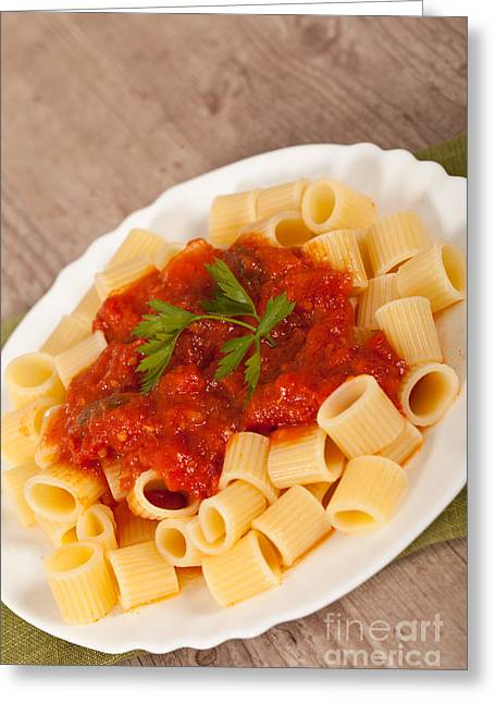 Italian Restaurant Greeting Cards - Italian pasta Greeting Card by Sabino Parente