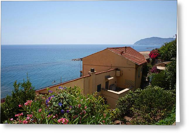 Imperia Greeting Cards - Italian Riviera Greeting Card by Philip G