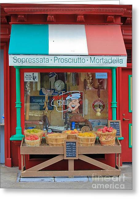 Italian Shopping Photographs Greeting Cards - Italian Greeting Card by Sophie Vigneault