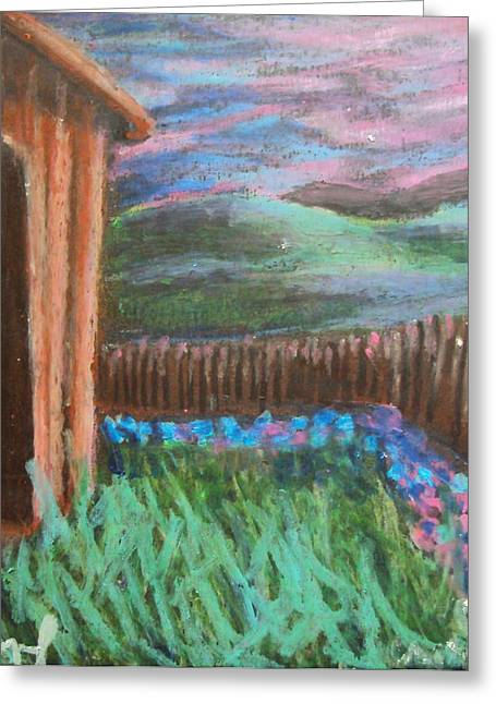 Old Barn Pastels Greeting Cards - Italian Sunset No. 4 Greeting Card by Casey P