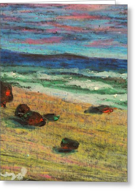 On The Beach Pastels Greeting Cards - Italian Sunset no. 6 Greeting Card by Casey P