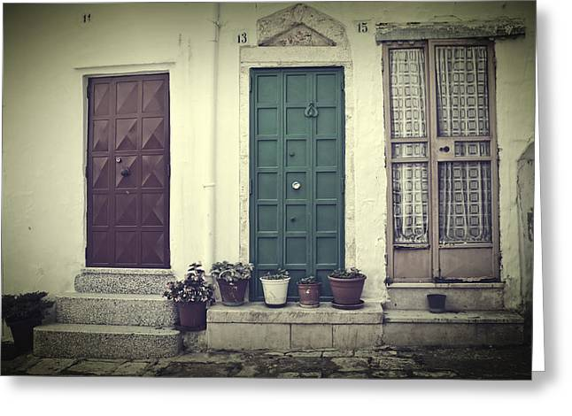 House Greeting Cards - Italy - doors Greeting Card by Joana Kruse