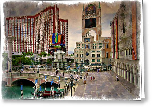 Las Vegas Art Greeting Cards - Italy And Pirates - IMPRESSIONS Greeting Card by Ricky Barnard