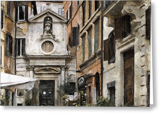 Europe Mixed Media Greeting Cards - Italy arty Greeting Card by Lutz Baar