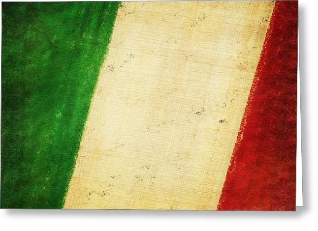 Smudge Greeting Cards - Italy flag Greeting Card by Setsiri Silapasuwanchai