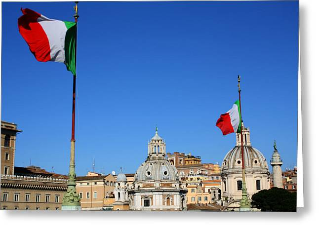 Italy Flags Greeting Card by Kevin Flynn
