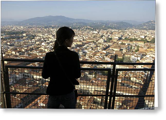 25-30 Years Greeting Cards - Italy, Florence, Tourist Looks Greeting Card by Sisse Brimberg & Cotton Coulson