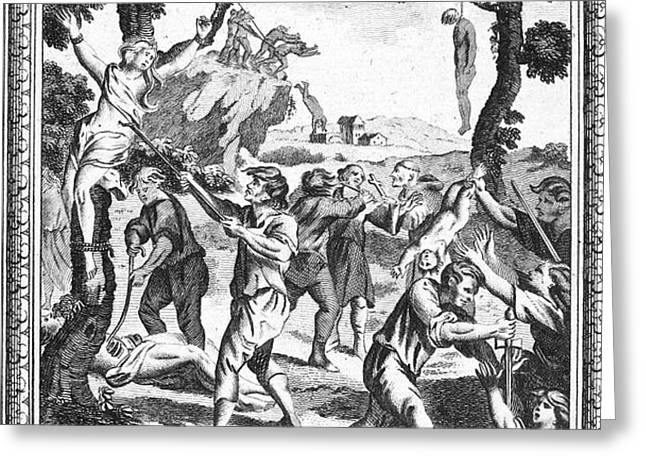 ITALY: PROTESTANT MARTYRS Greeting Card by Granger