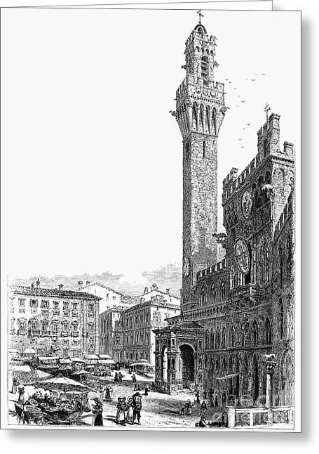 Italian Shopping Photographs Greeting Cards - ITALY: SIENA, 19th CENTURY Greeting Card by Granger