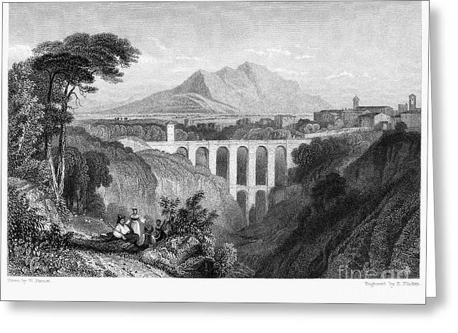 Italian Landscape Greeting Cards - Italy: Soracte, 1832 Greeting Card by Granger