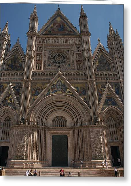 Orvieto Greeting Cards - Italys Most Ornate Duomo Is In Orvieto Greeting Card by Heather Perry